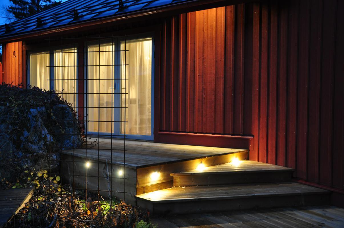 Villa junisk r rummet ljusdesignrummet ljusdesign for Eclairage led terrasse exterieure